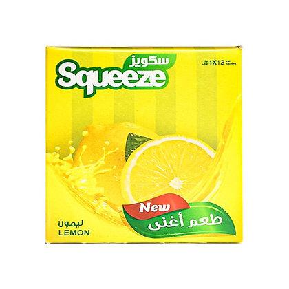 شراب، عصير سكويز بنكهة الليمون - 12 ظرف