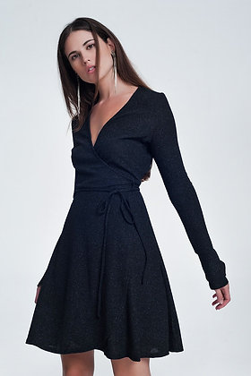 فستان أسود ليكرا
