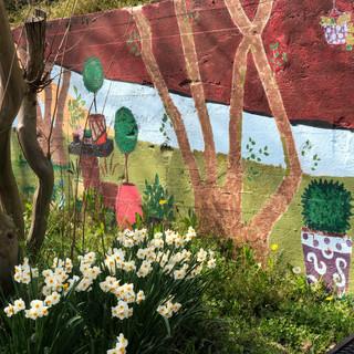 McGill Rose Garden - Landscape Mural
