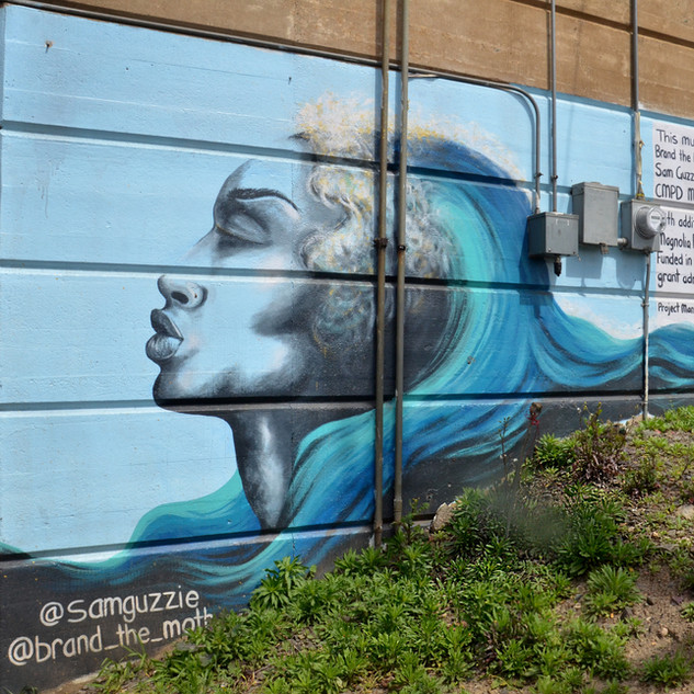 Ocean Goddess - 16th Street Bridge Mural