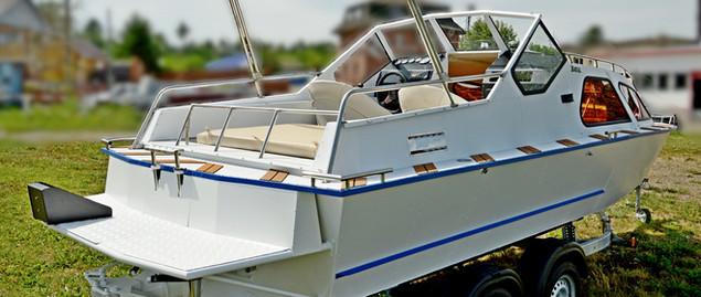 ходовой тент катера Бриз 580