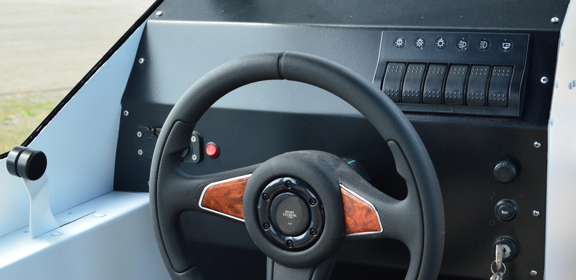 органы управления катером Бриз 580