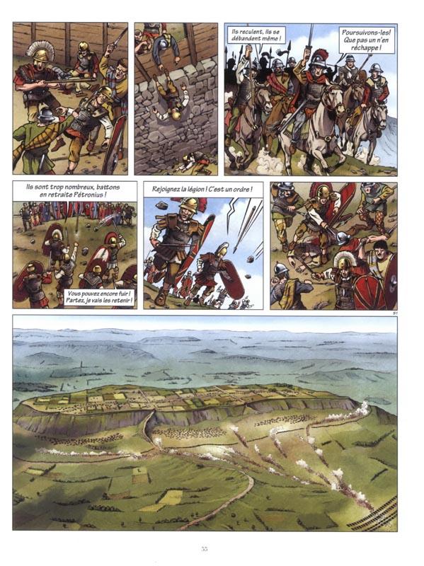 Attaque et vue générale de l'oppidum