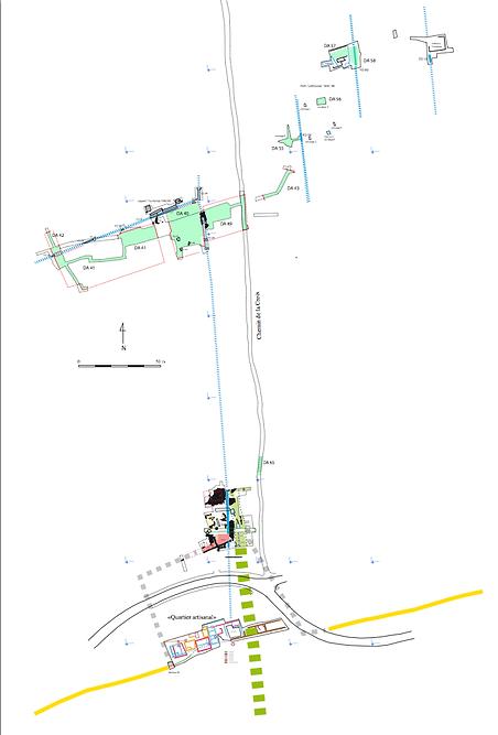 Plan general des fouilles 2018 P.Jud.png
