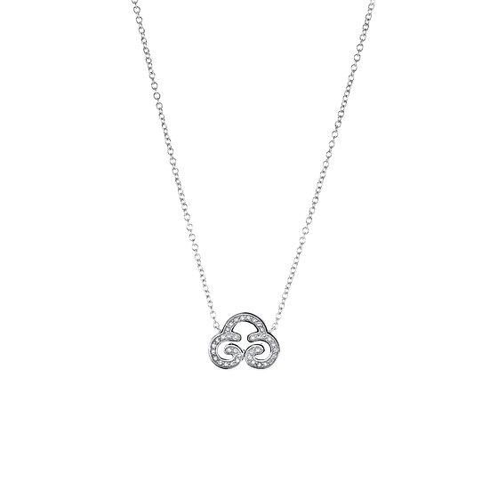 The Sky Cloud  Silver Zirconia Necklace