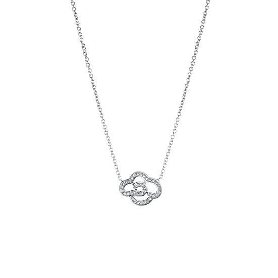 The Sky Mist  Silver Zirconia Necklace