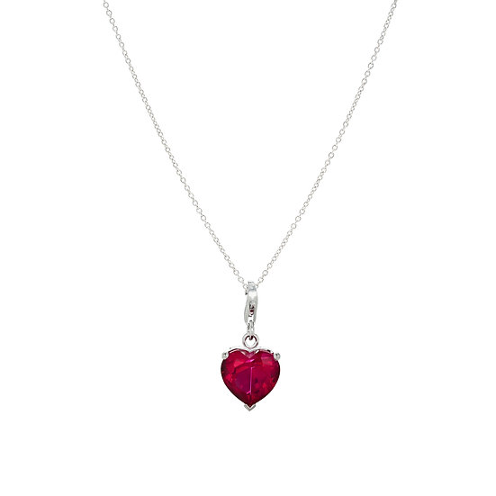 Twinkle Heart Silver Zirconia Necklace
