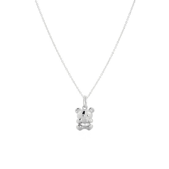 Beloved Teddy Shy Silver Necklace