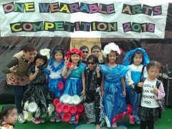 Fashion competition using recycled materials