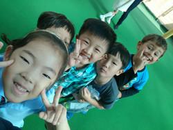 Children having fun on playground