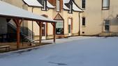 L'école sous la neige!