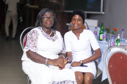 Mrs. Christiana Blankson with Hildagard Musah