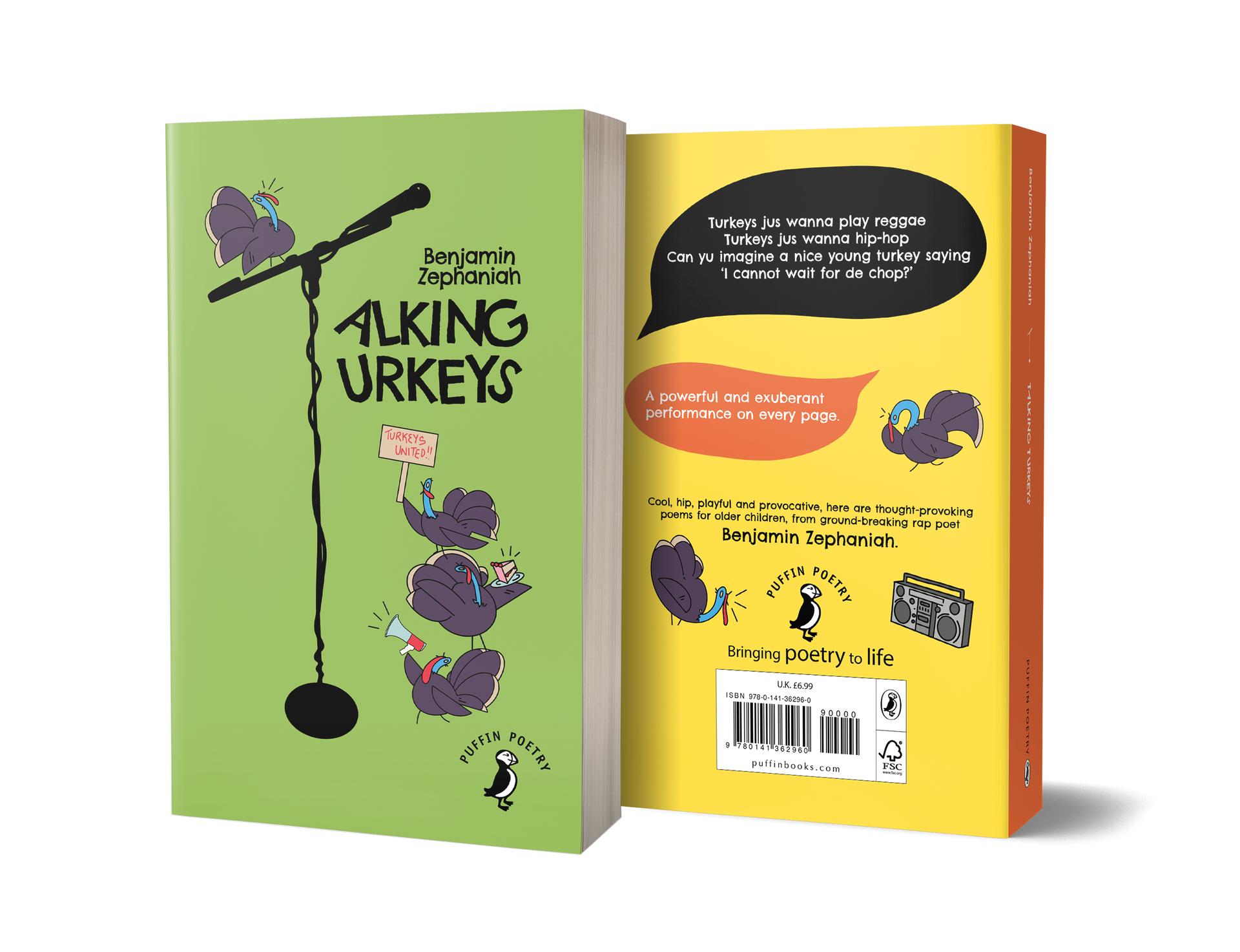 Talking Turkeys Book Cover Design, mock