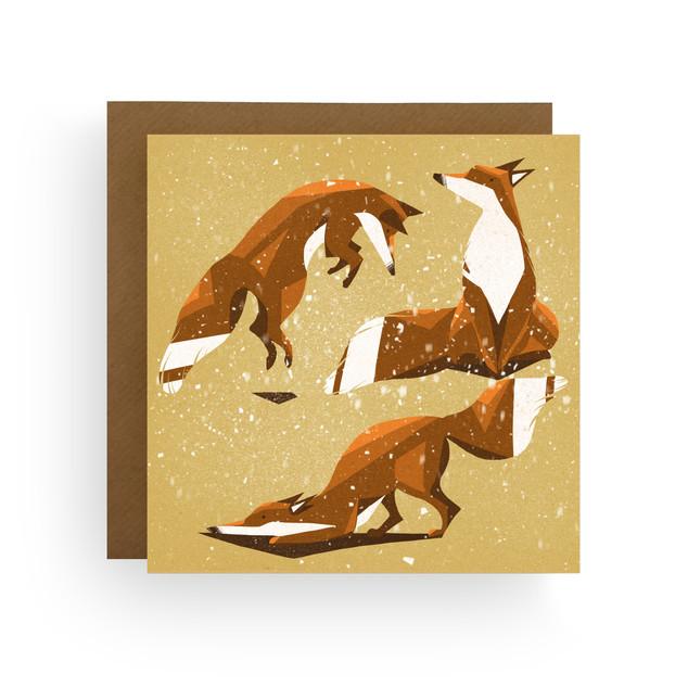 Playful Fox Christmas Card