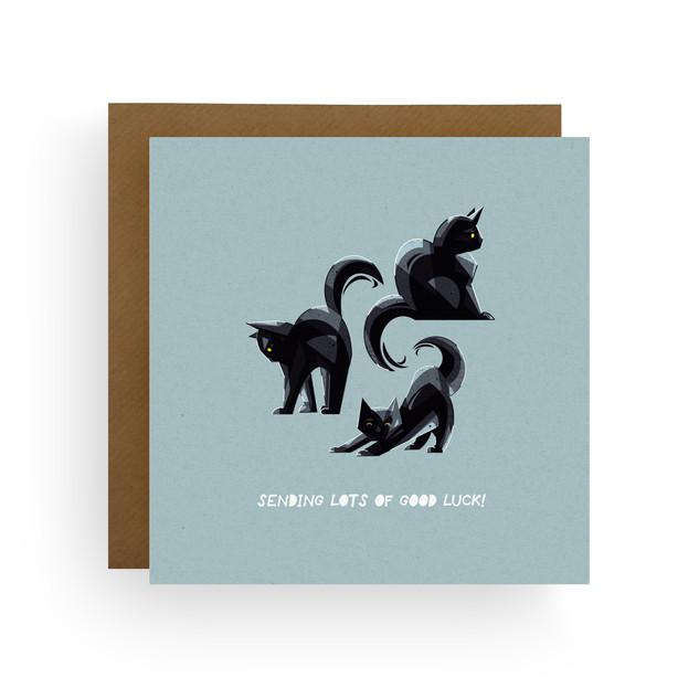 Good Luck Cats Card