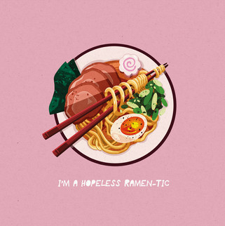 Hopeless Ramen-tic Illustration