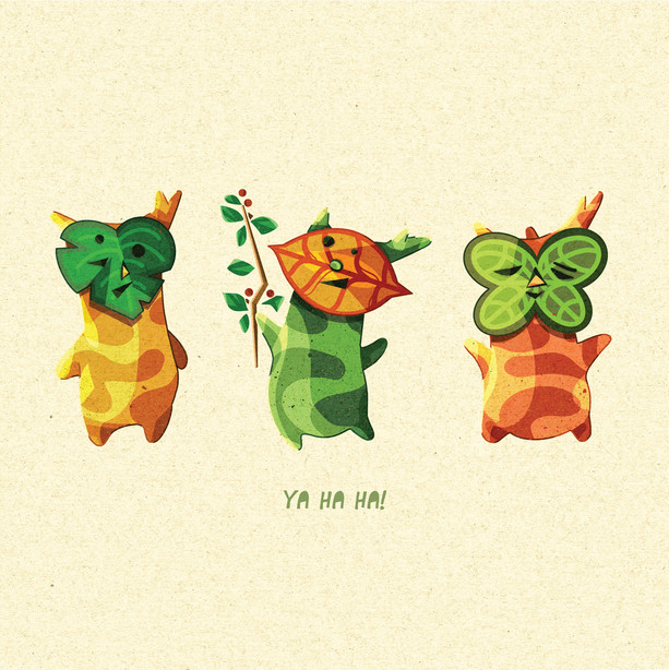 Koroks, The Legend of Zelda Illustration