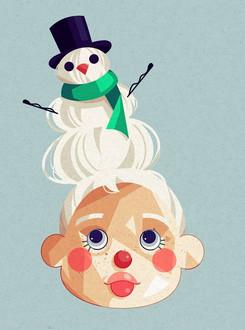 Snowman Hair