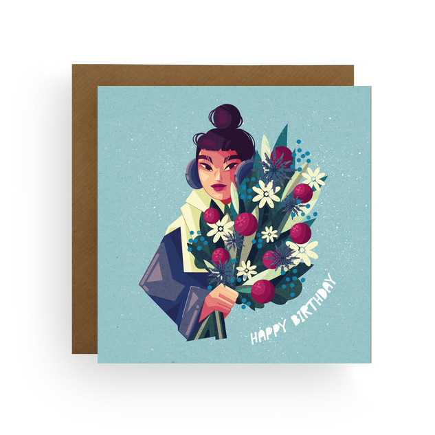 Birthday Winter Floral Card