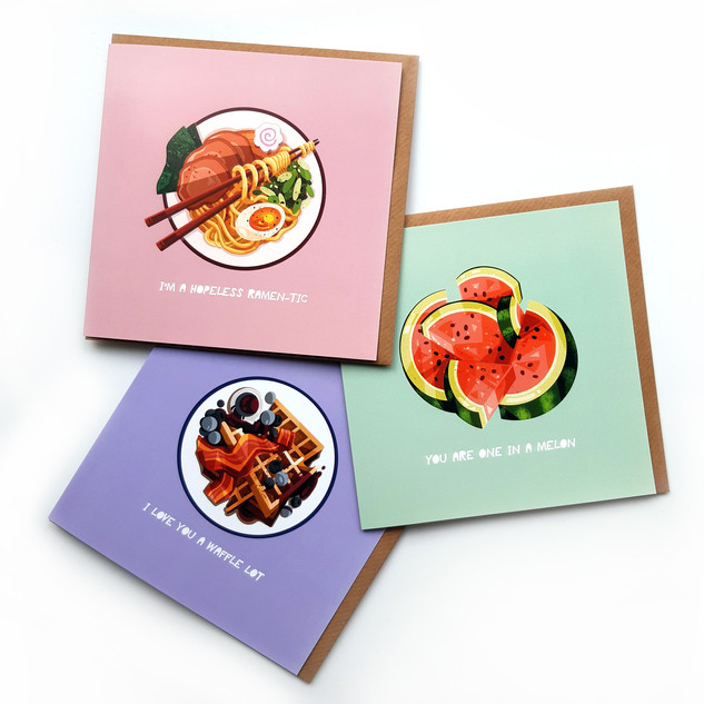 Foodie cards from £3.50 each