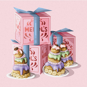 Mendls Bakery Illustration, Wes Anderson