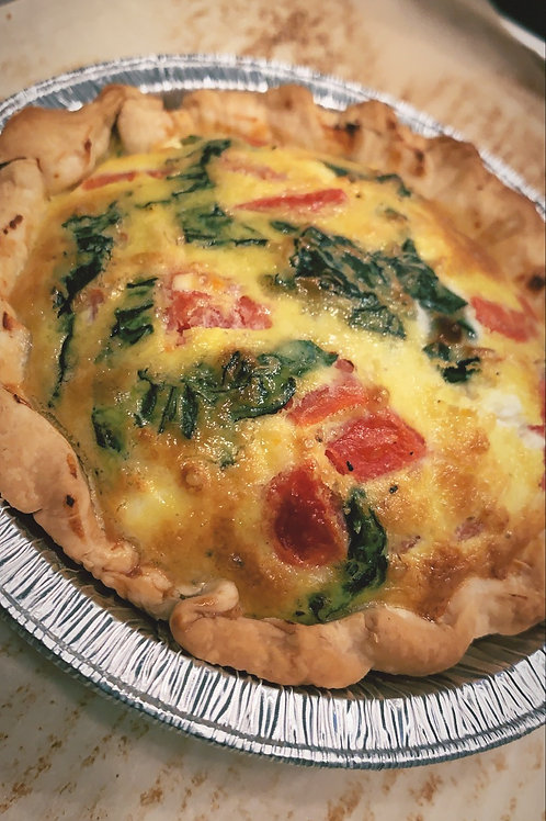 Tomato, Basil Goat Cheese Quiche