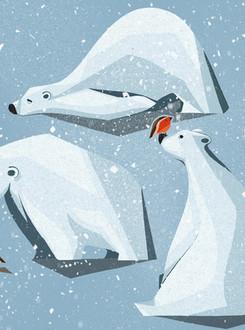Polar Bear & Robin Pals
