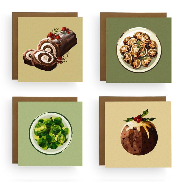 Foodie Christmas Cards Bundle