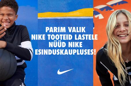 Parim valik Nike tooteid kooliealistele lastele nüüd Nike Esinduskaupluses!