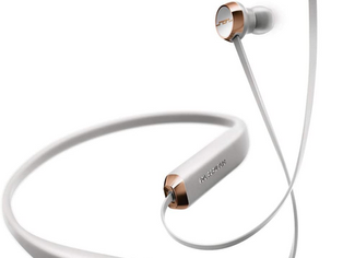 Sol Republic Shadow Bluetooth Wireless Noise Cancelling Neckband Headphones, Grey/Rose Gold