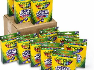 Crayola Ultra Clean Washable Large Crayons, Bulk School Supplies, 12 Packs of 16 Count