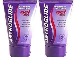 Astroglide Personal Lubricant Gel Real Pleasure Lasts Longer 4 Oz (Pack of 2)