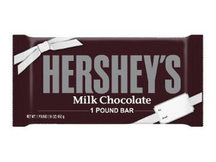 HERSHEY'S Giant Chrismtas Candy Chocolate Bar, Great for Gifts, 1 Pound Bar
