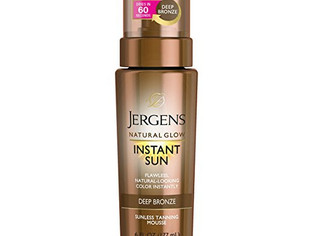 Jergens, Instant Sun Sunless Tanning Mousse for Body, Deep Bronze, 6 oz,
