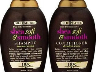 OGX Frizz-defy/Moisture SHEA SOFT & SMOOTH SHAMPOO + CONDITIONER 13 OZ,