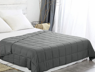 """Ourea Queen Weighted Blanket 25 lbs for Adults (60""""x 80"""",Queen Size) Dark Grey, Breathable and Soft"""