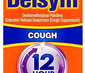 Delsym Adult 12 Hour Grape Cough Syrup, 3 Fl Oz (Pack of 2)
