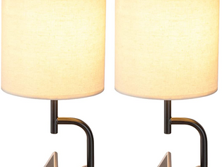 Dreamholder Desk Lamp with 3 USB Charging Ports,2 PACK
