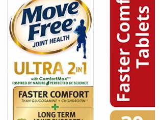 Move Free Ultra 2 in 1 with Comfort Max, Clinically Proven Joint Support 30 ea