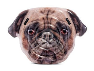 Intex Pug Face Inflatable Island, 68in x 51in