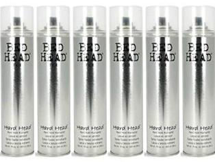 Tigi Bed Head Hard Head Spray 10.6 Oz Each (Pack of 6)