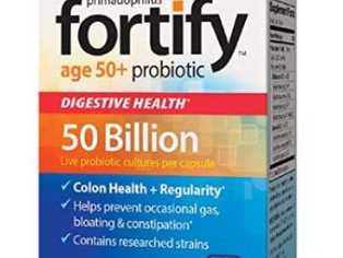Nature's Way Primadophilus Fortify Age 50+ Probiotic, Digestive Health*, Extra Strength, 50 Bill