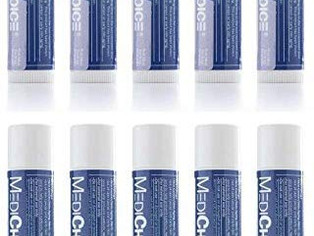 MediChoice Lip Balm with SPF 15, Moisturizer Nourish and Hydrate 0.15 oz each 10 Tube Value Pack