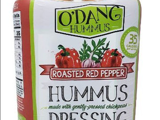 O'Dang Hummus Dressing Roasted Red Pepper, Plant Based 16 FL OZ Each - 2 Pack