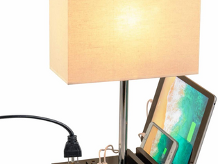 Dreamholder Desk Lamp with 3 USB Charging Ports,