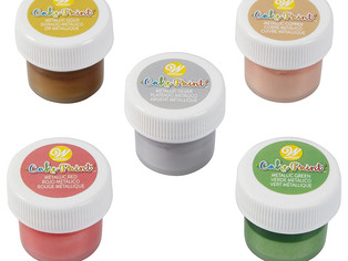 Wilton, Edible Cake Paint, Metallic Color      Set of 5