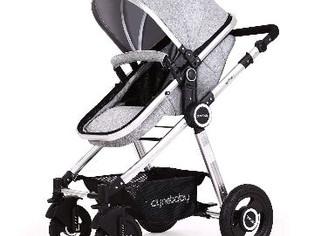 Baby Stroller Bassinet Pram Carriage Stroller - Cynebaby (Fresh Grey)