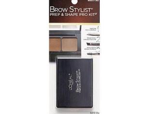L'Oréal Paris Brow Stylist Prep and Shape Pro Brow Kit, Medium To Dark, 0.12 oz.