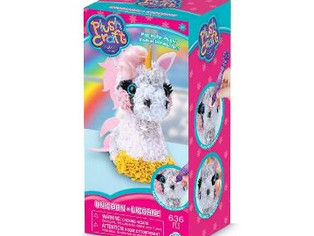 THE ORB FACTORY LIMITED Plush Craft 3D Unicorn, Pink/White/Yellow/Grey