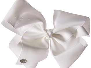 JoJo Siwa Large Cheer Hair Bow (White)